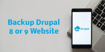 Backup Drupal 8 or 9 Website