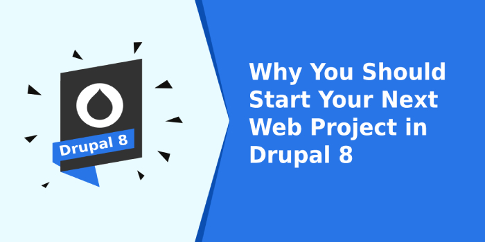 Why You Should Start Your Next Web Project in Drupal 8